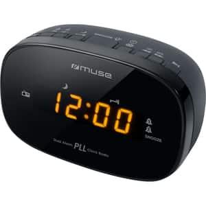 Radio cu ceas MUSE M-150 CR, FM, Dual Alarm, negru