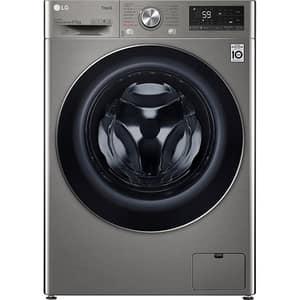 Masina de spalat rufe frontala cu uscator LG F4DV509S2TE, Steam, Wi-Fi, 9/6kg, 1300rpm, Clasa E, argintiu