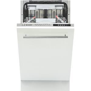 Masina de spalat vase incorporabila SHARP QW-S41I472X-EU, 10 seturi, 8 programe, 45cm, Clasa A++, argintiu