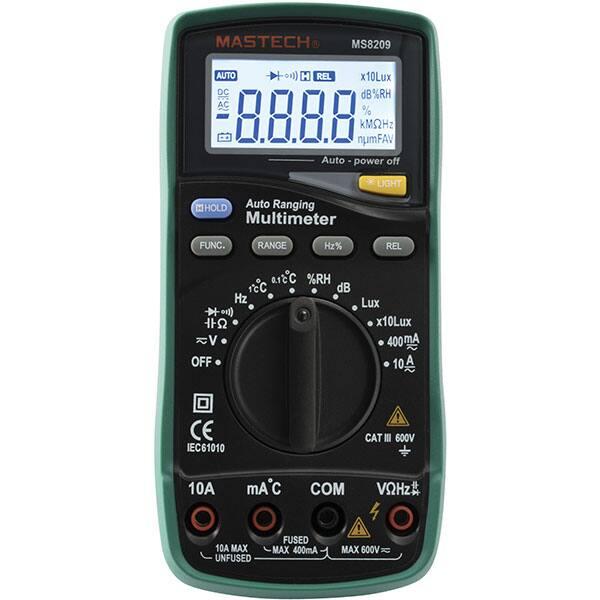 Multimetru digital SMA MS 8209, 9V, ecran digital