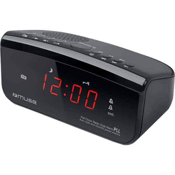 Radio cu ceas MUSE M-12 CR, FM, MW, Digital, negru