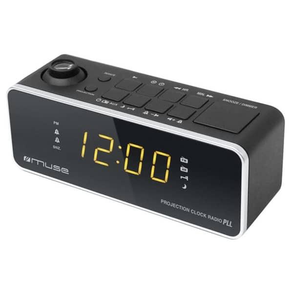 Radio cu ceas MUSE M-188 P, FM, MW, Dual Alarm, negru