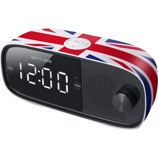 Radio cu ceas MUSE M-168 UK, FM, Dual Alarm, multicolor
