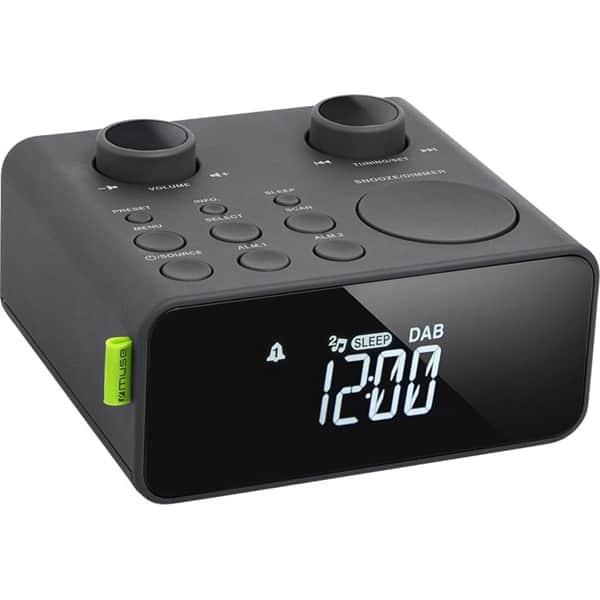 Radio cu ceas Muse M-197 CDB, FM, DAB, Dual Alarm, negru