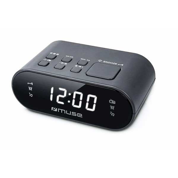 Radio cu ceas MUSE PLL M-10 CR, FM, Dual Alarm, negru