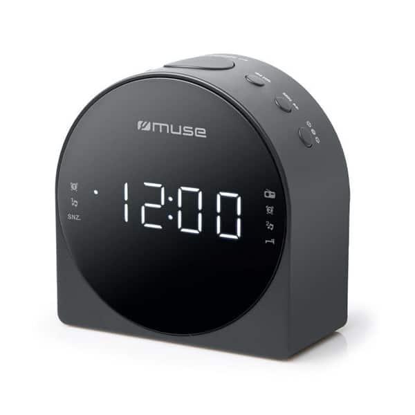 Radio cu ceas MUSE PLL M-185 CR, FM, MW, Dual Alarm, negru