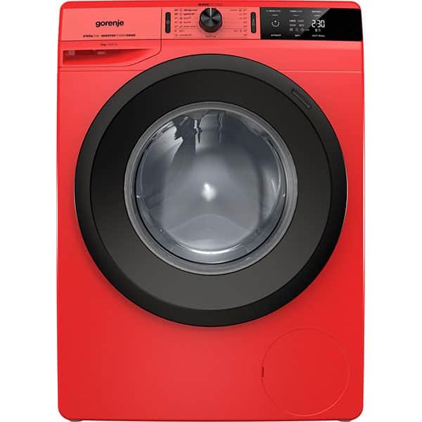 Masina de spalat rufe frontala GORENJE WEI843R, WaveActive, 8 kg, 1400rpm, Clasa B, rosu