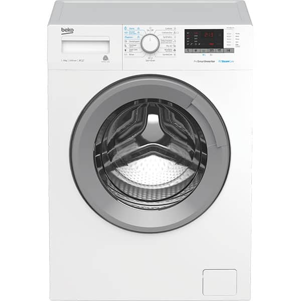 Masina de spalat rufe frontala BEKO WTV9612XS, SteamCure, 9kg, 1200rpm, Clasa A+++, alb