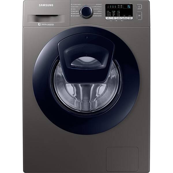 Masina de spalat rufe frontala SAMSUNG WW80K44305X/LE, Addwash, 8kg, 1400rpm, Clasa A+++, inox