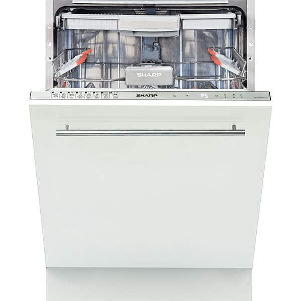 Masina de spalat vase incorporabila SHARP QW-GD54R443X, 15 seturi, 8 programe, 60 cm, clasa A+++