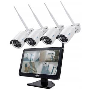 Kit supraveghere video PNI HSWIFI650, 4 camere Full HD, 4 canale, negru