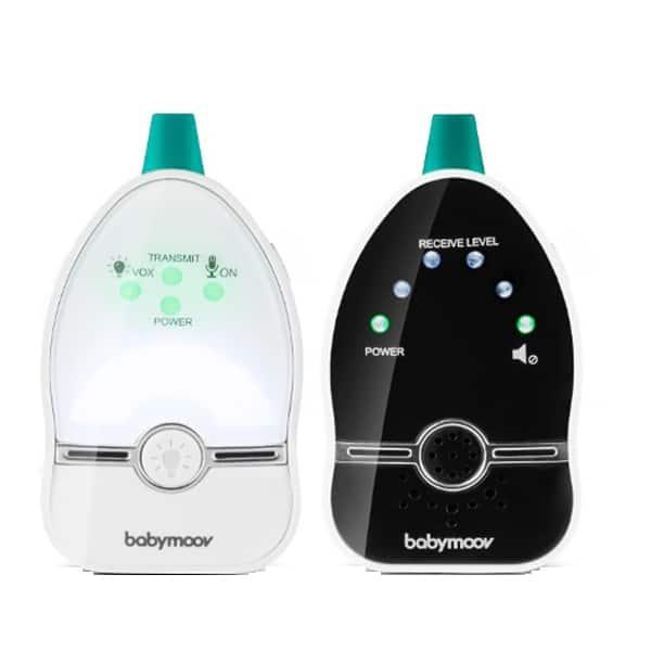 Monitor audio cu lampa de veghe BABYMOOV Easy Care A014015, alb-negru