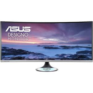 "Monitor curbat LED IPS ASUS Designo Curve MX38VC, 38"", UWQHD, 75Hz, Incarcator Wireless Qi, gri inchis"