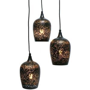 Lampa de tavan tip pendul MYRIA MY2234, 3x40W, E27, negru-auriu