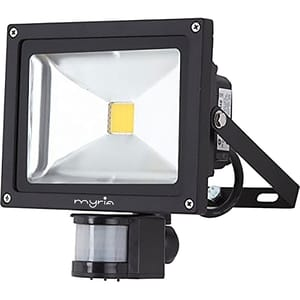 Proiector LED cu senzor de miscare MYRIA MY2241 30W, 1100 lumeni, negru