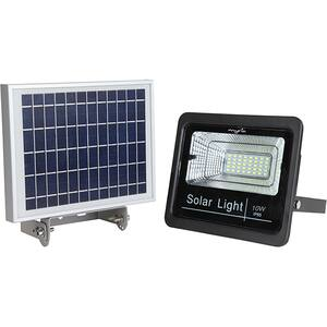 Proiector LED cu panou solar MYRIA MY2244, 10W, 700 lumeni, IP65, argintiu