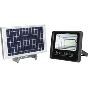 Proiector LED cu panou solar MYRIA MY2245, 30W, 2100 lumeni, IP65, argintiu