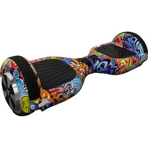 Hoverboard MYRIA Sky Rider Junior, 6.5 inch, graffiti + geanta transport inclusa