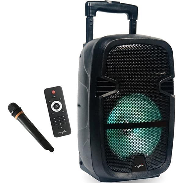 Boxa portabila cu microfon Wireless MYRIA MY2612, Bluetooth, USB, Radio FM, negru
