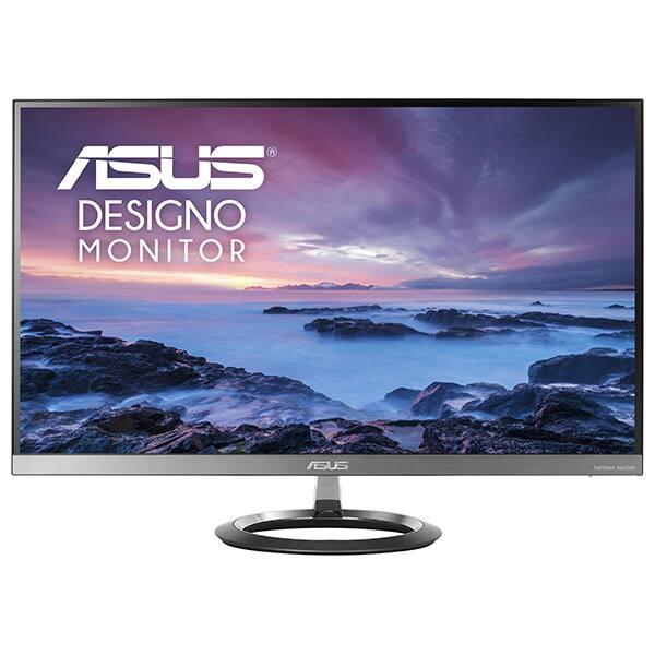 "Monitor LED IPS ASUS Designo MZ27AQ, 27"", WQHD, 60Hz, Subwoofer, gri inchis"