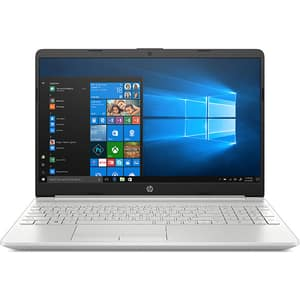 "Laptop HP 15-dw2007nq, Intel Core i5-1035G1 pana la 3.6GHz, 15.6"" Full HD, 8GB, SSD 256GB, Intel UHD Graphics, Windows 10 Home, argintiu"