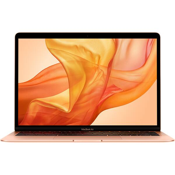 "Laptop APPLE MacBook Air 13 mvh52ro/a, Intel Core i5 pana la 3.6GHz, 13.3"" IPS Retina, 8GB, SSD 512GB, Intel Iris Plus Graphics, macOS Catalina, Gold - Tastatura layout RO"