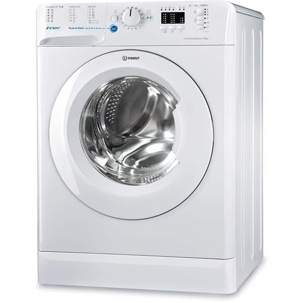 Masina de spalat rufe frontala INDESIT BWSA 61053 W EU, Push & Wash, 6kg, 1000rpm, Clasa A+++, alb