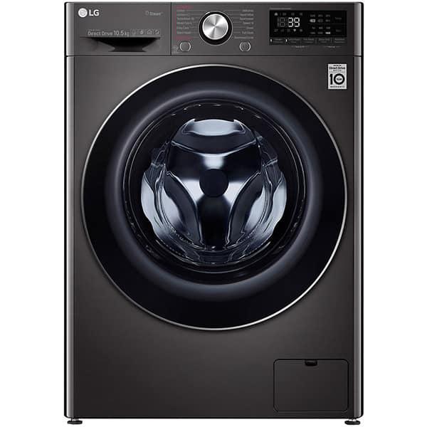 Masina de spalat rufe frontala LG F4WV910P2S, TurboWash 360, Wi-Fi, 10.5kg, 1400rpm, Clasa A+++, negru