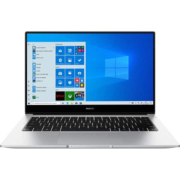 "Laptop HUAWEI MateBook D 14, AMD Ryzen 7 3700U pana la 4.0GHz, 14"" Full, 8GB, SSD 512GB, AMD Radeon Vega 8 Graphics, Windows 10 Home, argintiu"