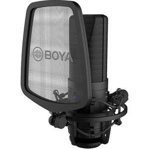 Microfon condensator BOYA BY-M1000, XLR, negru