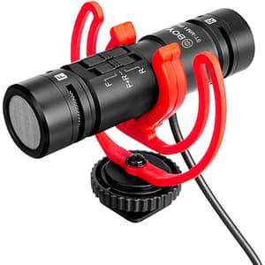 Microfon condensator BOYA BY-MM1 Pro, Jack 3.5mm, negru