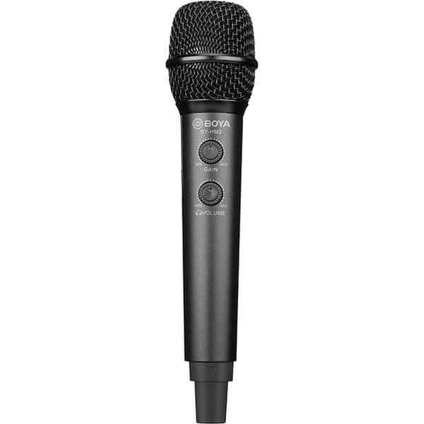 Microfon condensator BOYA BY-HM2, mini tripod, TRS, USB A, USB C, Lightning, Jack 3.5mm, negru