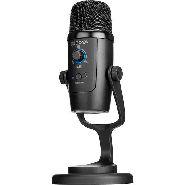 Microfon condensator BOYA BY-PM500, Jack 3.5 mm, USB, negru