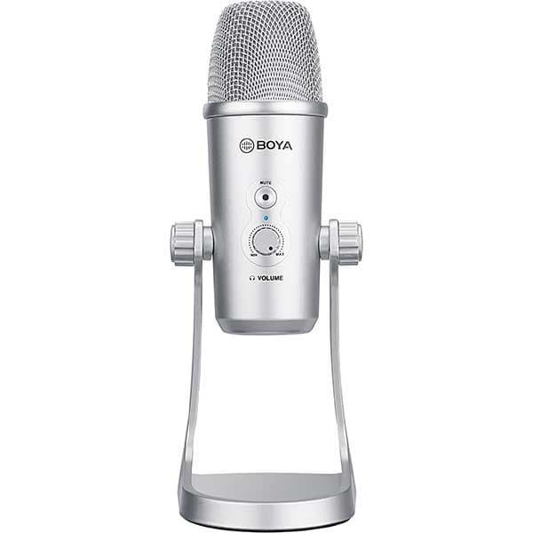 Microfon condensator BOYA BY-PM700SP, Jack 3.5 mm, USB, USB C, Lightning, argintiu
