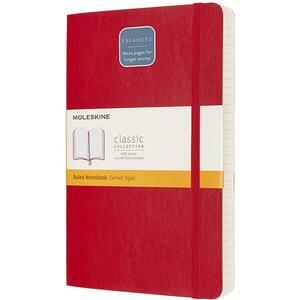 Carnet notite MOLESKINE Expanded Ruled Soft Notebook, dictando, Large, 200 file, rosu stacojiu
