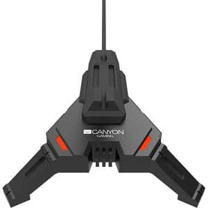 Mouse Bungee CANYON CND-GWH100, hub USB, iluminare LED, negru