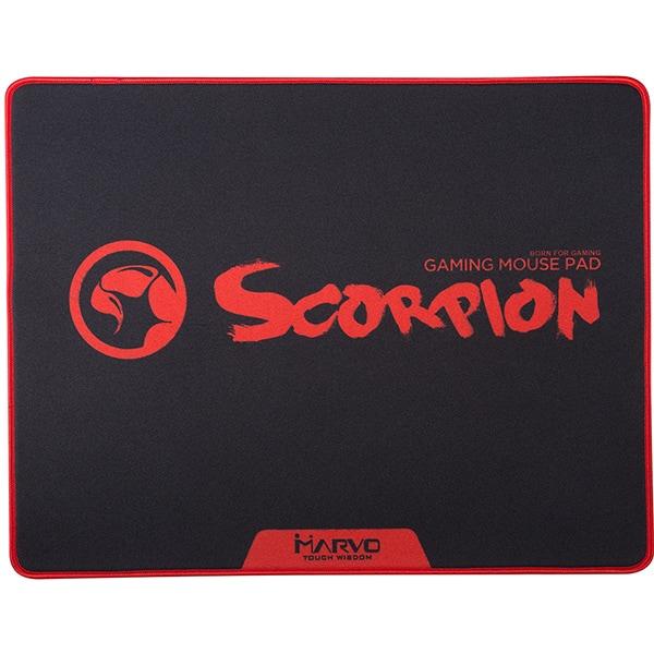 Mouse Pad Gaming MARVO G18, design Scorpion, negru-rosu
