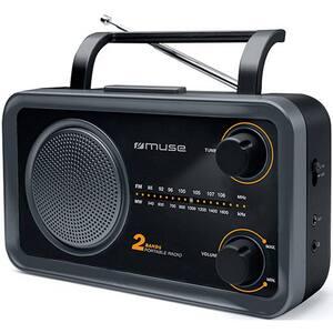 Radio portabil MUSE M-06 DS MSE00147, FM, negru