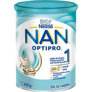 Formula speciala de lapte NESTLE NAN Optipro 1 HM-O 12358916, 0 luni+, 400g