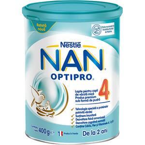 Lapte praf NESTLE NAN Optipro 4 12426524, 2 ani+, 400g