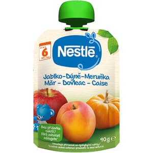 Piure NESTLE cu mere, dovleac si caise 12428698, 6 luni+, 90g