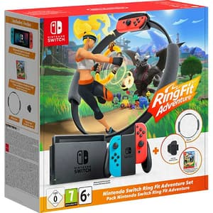 Consola NINTENDO Switch (Joy-Con Neon Green/Red) HAD + Ring Fit Adventure Edition