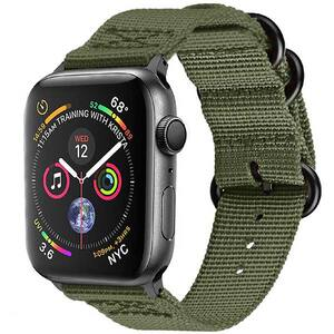 Bratara pentru Apple Watch 38mm/40mm, PROMATE Nylox-38, nylon, verde