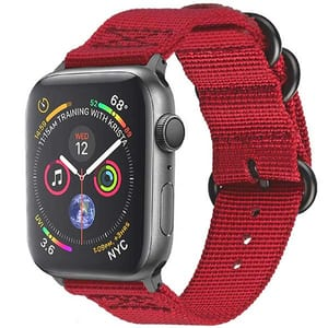 Bratara pentru Apple Watch 38mm/40mm, PROMATE Nylox-38, nylon, rosu