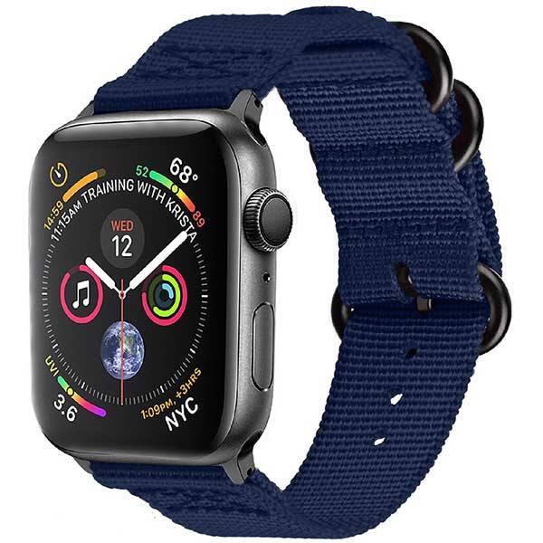 Bratara pentru Apple Watch 38mm/40mm, PROMATE Nylox-38, nylon, albastru