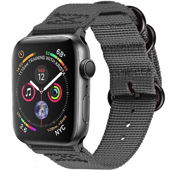 Bratara pentru Apple Watch 42mm/44mm, PROMATE Nylox-42, nylon, gri