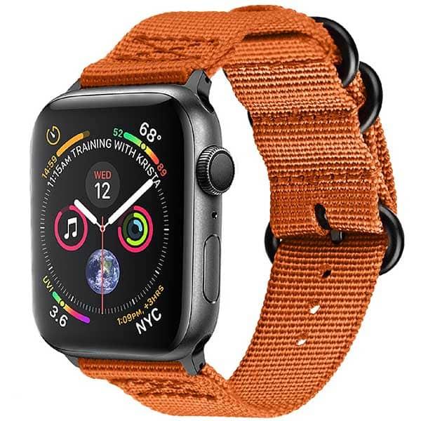 Bratara pentru Apple Watch 42mm/44mm, PROMATE Nylox-42, nylon, portocaliu