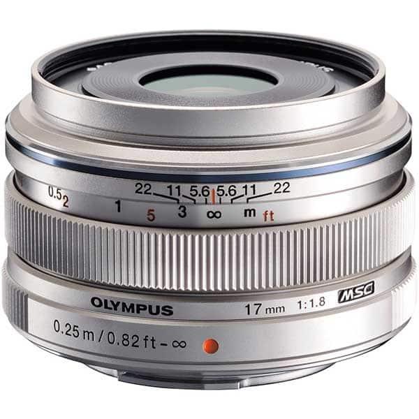 Obiectiv foto OLYMPUS M.ZUIKO Digital ED 17mm f/1.8, argintiu
