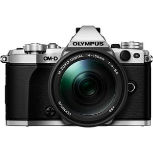 Aparat foto Mirrorless OLYMPUS E-M5 MARK II, 16 MP, Wi-Fi, argintiu + Obiectiv 14-150mm