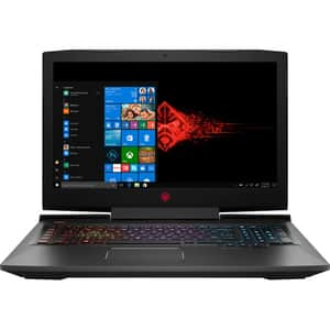 "Laptop Gaming HP OMEN 17-an122nq, Intel Core i7-8750H pana la 4.1GHz, 17.3"" Full HD, 16GB, HDD 1TB + SSD 128GB, NVIDIA GeForce GTX 1070 8GB, Windows 10 Home, negru"